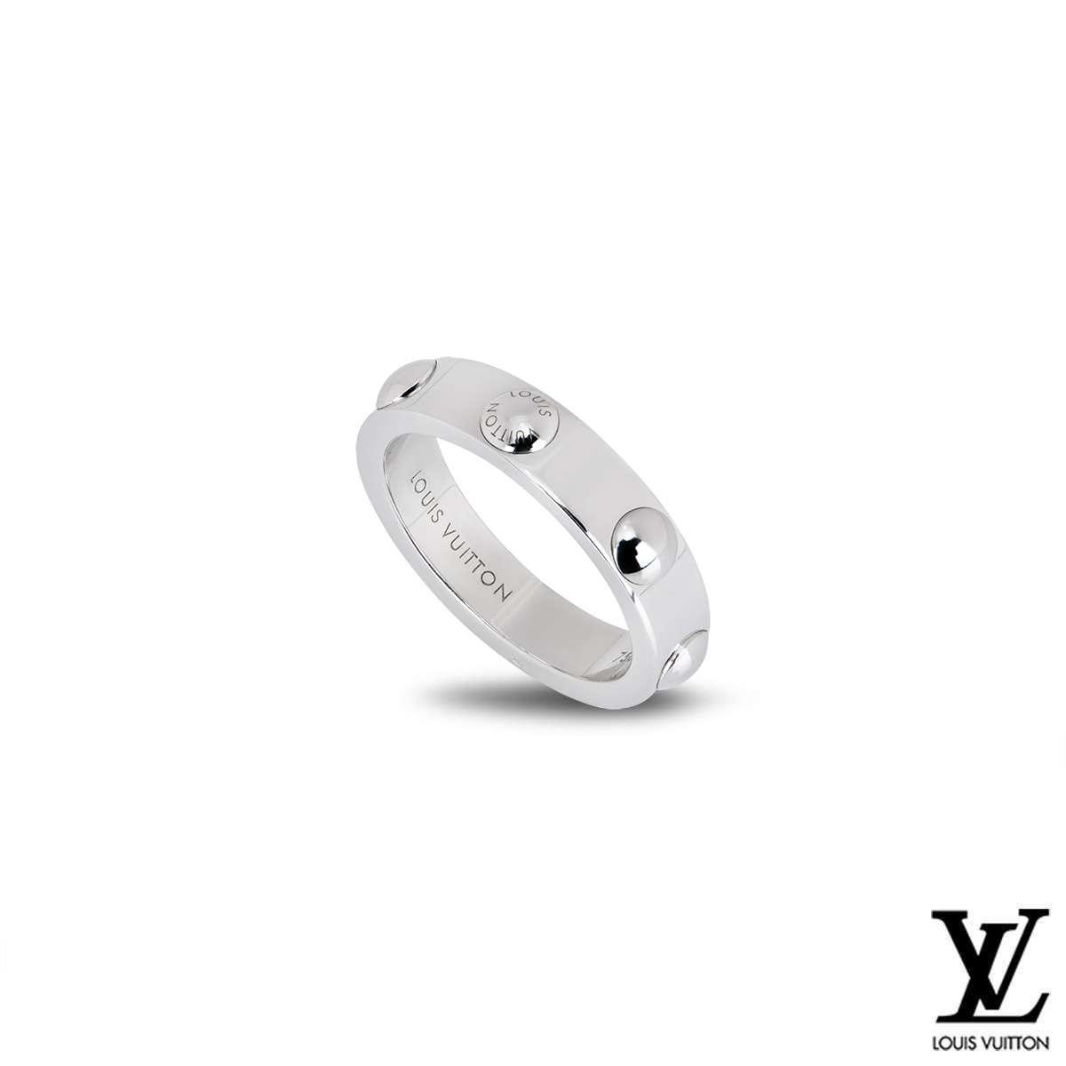 Louis Vuitton 18k White Gold Empreinte Ring